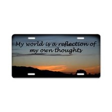Words of affermations 2 Aluminum License Plate