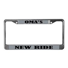 Omas New Ride License Plate Frame