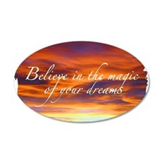 Power of intention 20x12 Oval Wall Decal