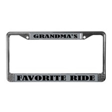 Grandmas Ride License Plate Frame