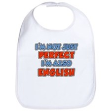 Not Just Perfect Im English Bib