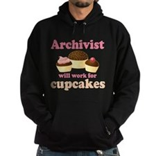 Archivist Cupcake (Funny) Hoodie
