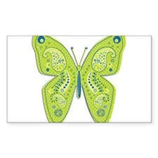Lime and Blue Paisley Butterfly Decal