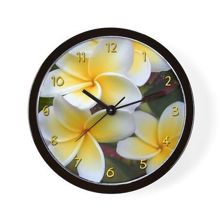 Yellow Plumeria Wall Clock
