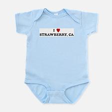I Love STRAWBERRY Infant Creeper
