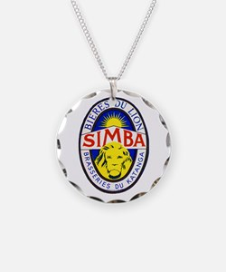 Congo Beer Label 5 Necklace Circle Charm