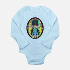 Croatia Beer Label 3 Long Sleeve Infant Bodysuit