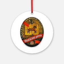 Croatia Beer Label 2 Ornament (Round)