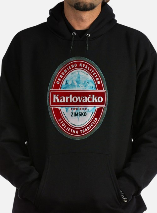Croatia Beer Label 1 Hoodie (dark)