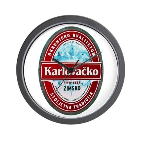 Croatia Beer Label 1 Wall Clock