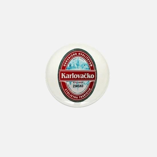 Croatia Beer Label 1 Mini Button
