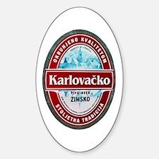 Croatia Beer Label 1 Sticker (Oval 10 pk)