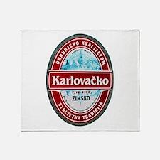 Croatia Beer Label 1 Throw Blanket