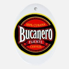 Cuba Beer Label 5 Ornament (Oval)