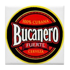 Cuba Beer Label 5 Tile Coaster