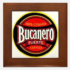 Cuba Beer Label 5 Framed Tile