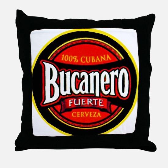 Cuba Beer Label 5 Throw Pillow