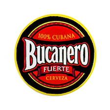 "Cuba Beer Label 5 3.5"" Button"