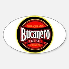 Cuba Beer Label 5 Sticker (Oval)