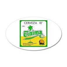 Cuba Beer Label 3 22x14 Oval Wall Peel