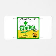 Cuba Beer Label 3 Aluminum License Plate