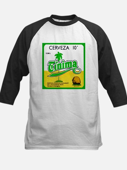 Cuba Beer Label 3 Kids Baseball Jersey
