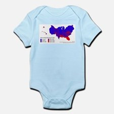 Federal Income Tax/Spending Map Infant Bodysuit