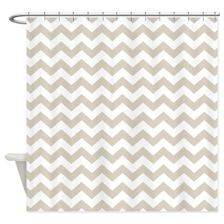 chevron pattern taupe Shower Curtain