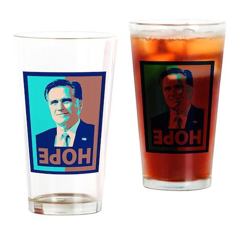 Mitt Romney Opposite of Hope Drinking Glass