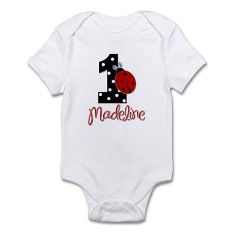Madeline - 1 - LadyBug - CUSTOM Infant Bodysuit
