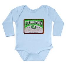 Czech Beer Label 11 Long Sleeve Infant Bodysuit