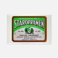 Czech Beer Label 11 Rectangle Magnet (10 pack)