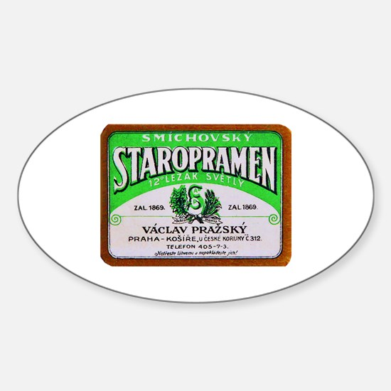 Czech Beer Label 11 Sticker (Oval)