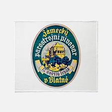 Czech Beer Label 10 Throw Blanket