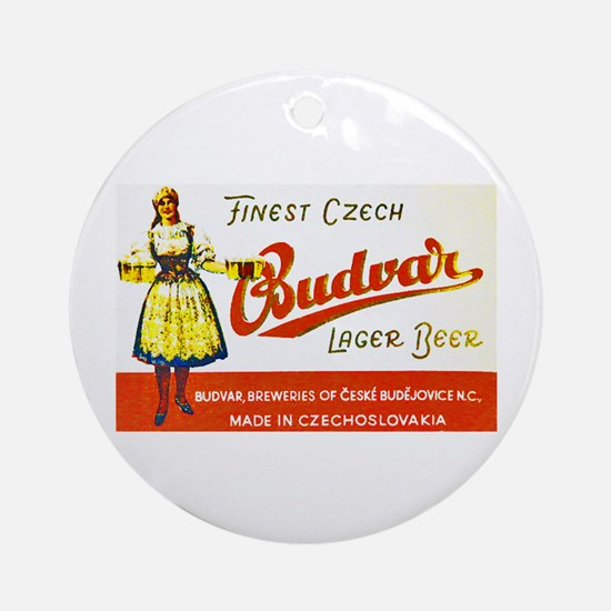 Czech Beer Label 8 Ornament (Round)