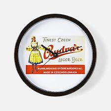 Czech Beer Label 8 Wall Clock