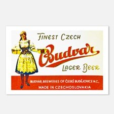 Czech Beer Label 8 Postcards (Package of 8)