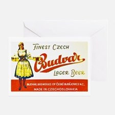 Czech Beer Label 8 Greeting Card