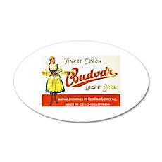 Czech Beer Label 8 22x14 Oval Wall Peel