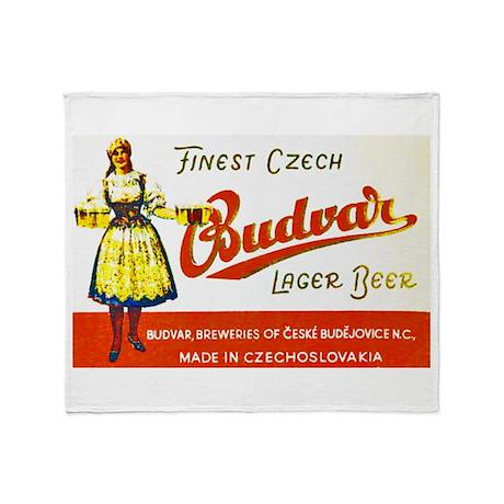 Czech Beer Label 8 Throw Blanket