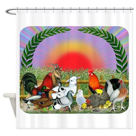 Farm Animals Shower Curtain By Jackynet