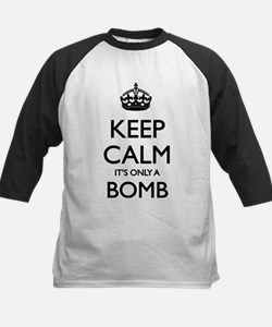Keep Calm... it's only a Bomb Kids Baseball Jersey