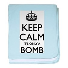 Keep Calm... it's only a Bomb baby blanket