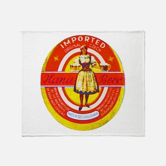 Czech Beer Label 6 Throw Blanket
