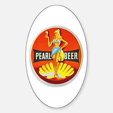 Czech Beer Label 5 Sticker (Oval)