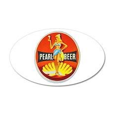 Czech Beer Label 5 22x14 Oval Wall Peel