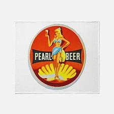 Czech Beer Label 5 Throw Blanket