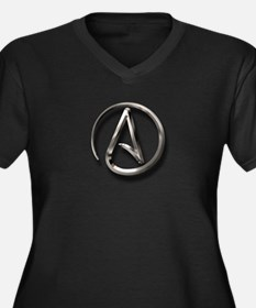 International Atheism Symbol Women's Plus Size V-N