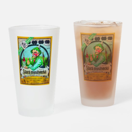 Czech Beer Label 2 Drinking Glass