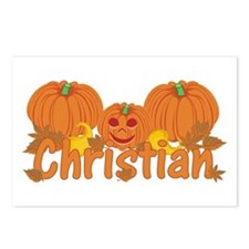 Halloween Pumpkin Christian Postcards (Package of